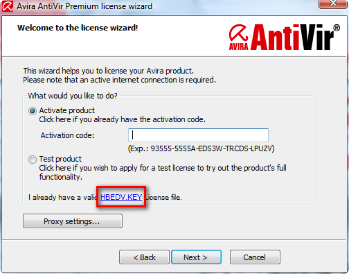 Avira Internet Security 2012 hbedv.key.