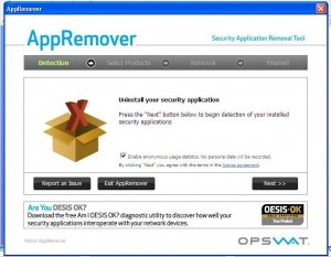 App Remover main window