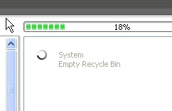 CCleaner scanning for temporary files