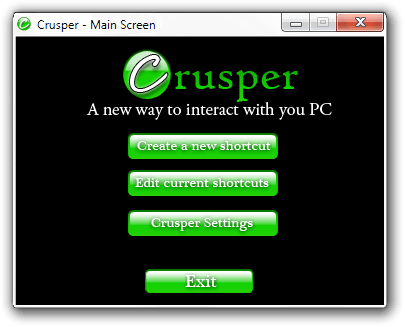 Crusper - Main Screen