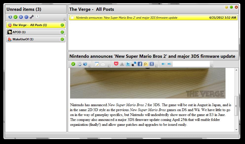 Desktop Google Reader