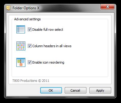 Folder Options X