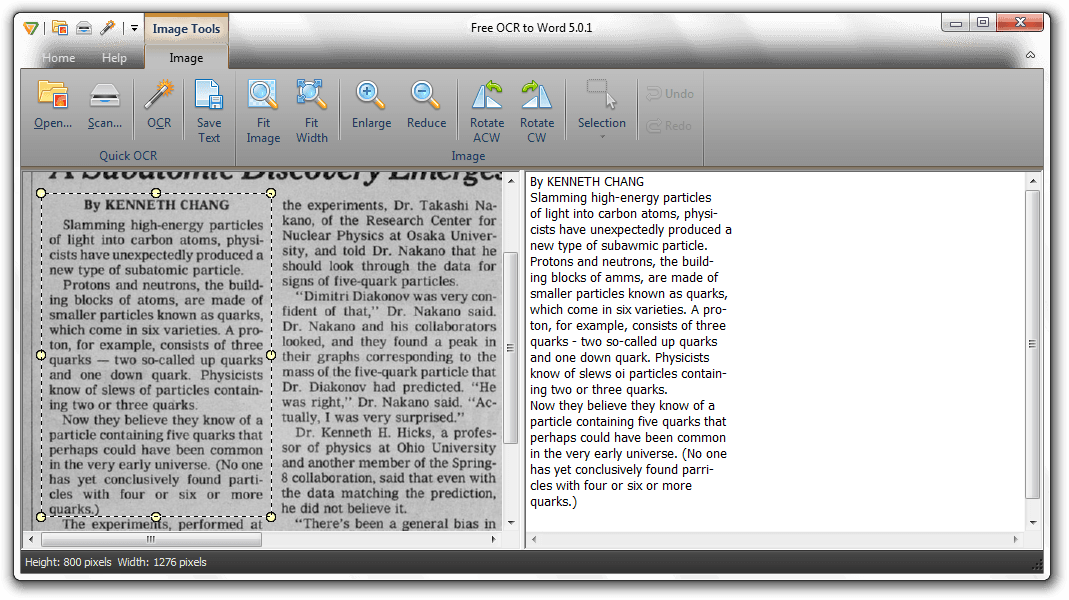 Free OCR to Word 5.0.1