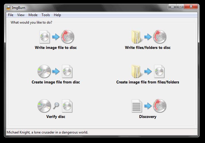 Запись образа Windows на DVD.