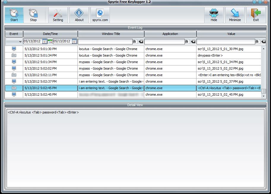 Spyrix Free Keylogger 1.2