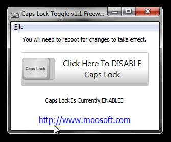 Caps Lock Toggle v1.1 Freeware