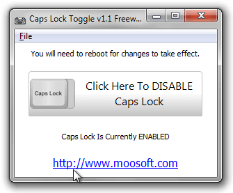 Caps Lock Toggle v1.1 Freeware