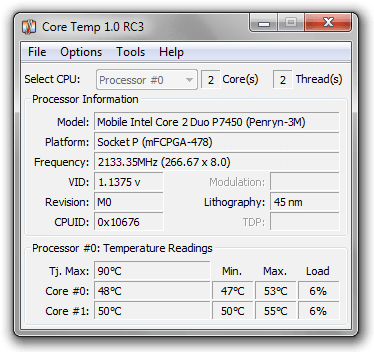 Core Temp 1.0 RC3