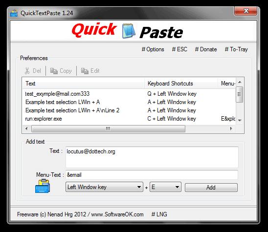 QuickTextPaste 1.24
