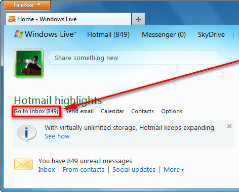 how to delete hotmail inbox all at once