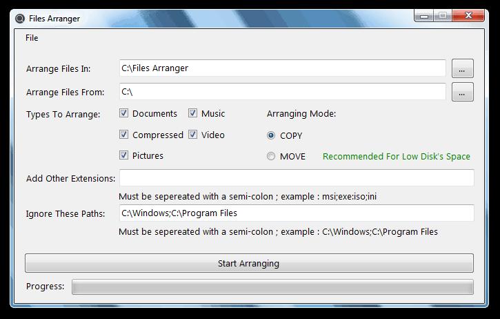 Files Arranger