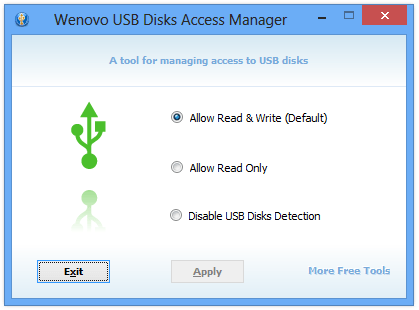 Wenovo USB Disks Access Manager