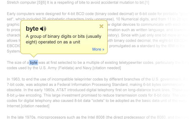 DictionaryChrome