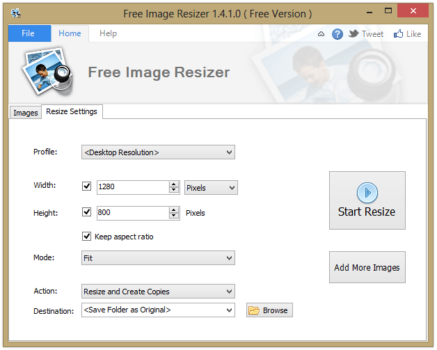 Free Image Resizer 1.4.1.0 ( Free Version )