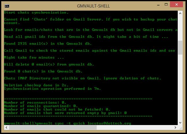 GMVAULT-SHELL