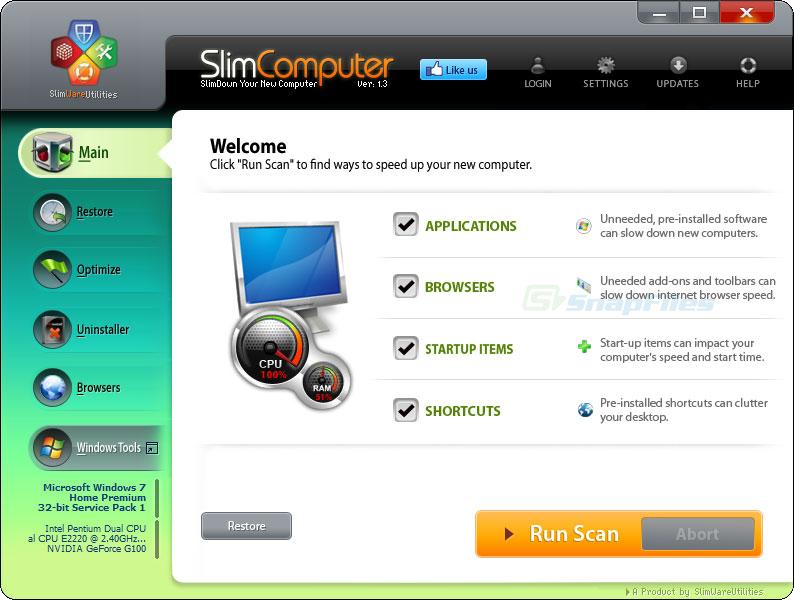 SlimCompter Main