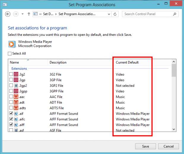how to change file type in windows 8