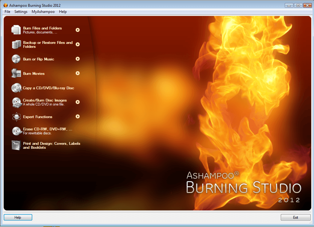 Ashampoo Burning Studio 2012