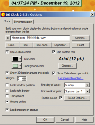 DC Clock Screenshot