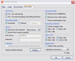 Tipcam screenshot