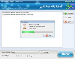 ALl Free MP3 Joiner Screensoht