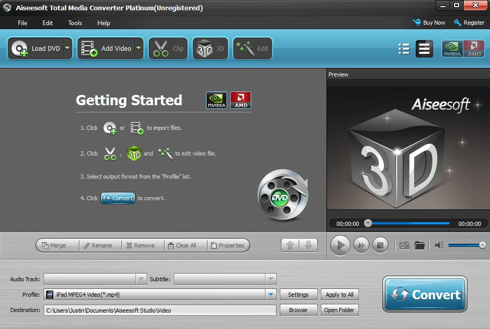 video converter Aiseesoft Total Media Converter Windows