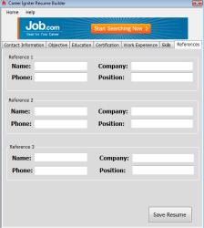Career Igniter Resume Builder Screenshot