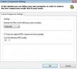 FILEminimizer screenshot