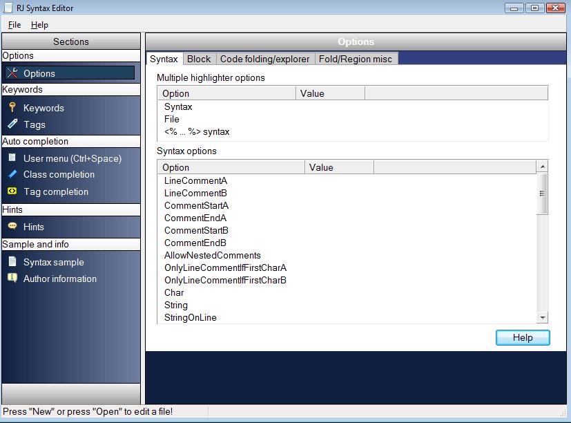 RJ TextEd Portable Screenshot