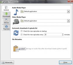gPodder Screenshot