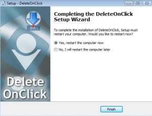 DeleteOnClick Setup