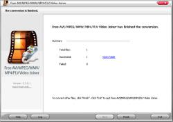 Free AVI MPEG WMV MP4 FLV Video Joiner Screenshot
