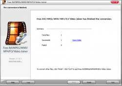 Free AVI MPEG WMV MP4 FLV Video Joiner Screenshot