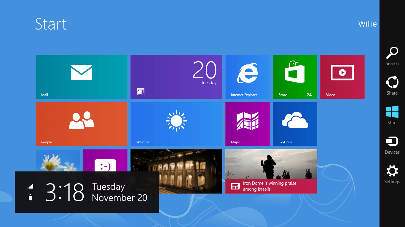 how to bring apps to desktop in windows 8.1