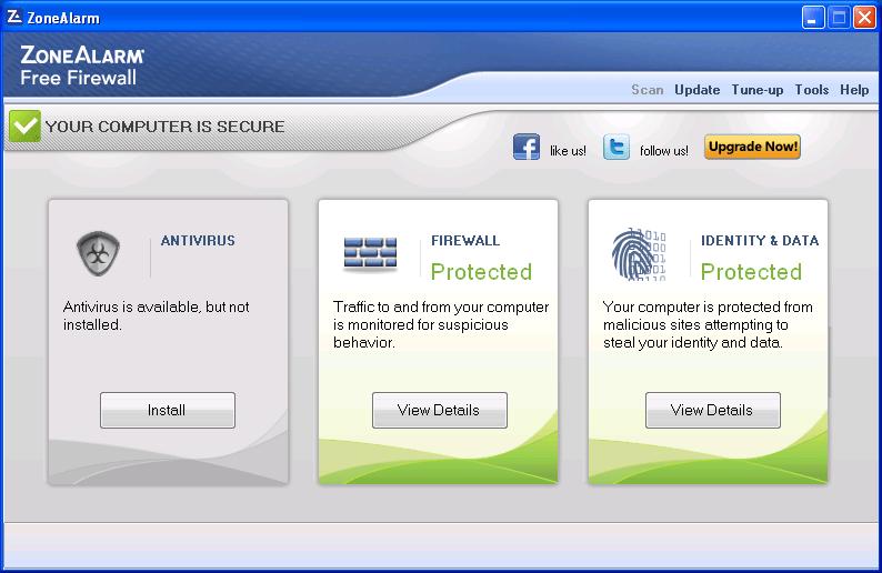 ZoneAlarm Free Antivirus + Firewall - бесплатный пакет для защиты пользоват
