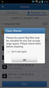 Clean Master Warning