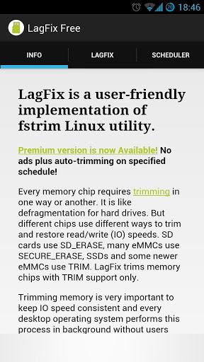 LagFix Free Start Screen