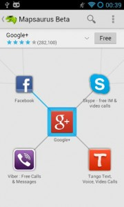 Mapsaurus App Tree and Connected Titles