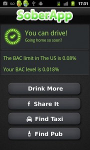 SoberApp BAC Calculation