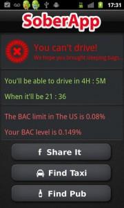 SoberApp Bad BAC Calc