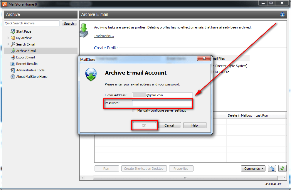 how to take backup from outlook 2007