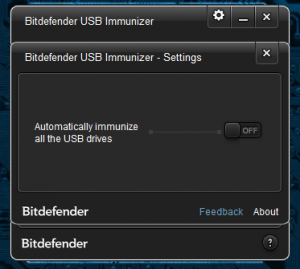 BitDefender USB Immunizer Settings