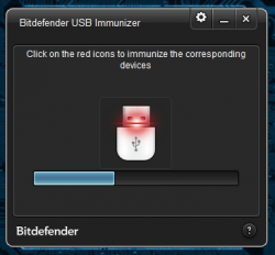 BitDefender USB Immunizer in progress