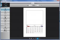 Calme Picture Calendar template settings