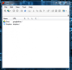 CarotDAV Accounts