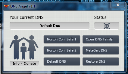 DNS Angel Main UI