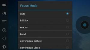Droid Timelapse focus mode