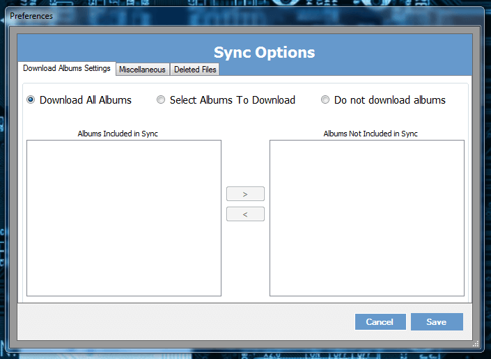 Drop N Sync Options