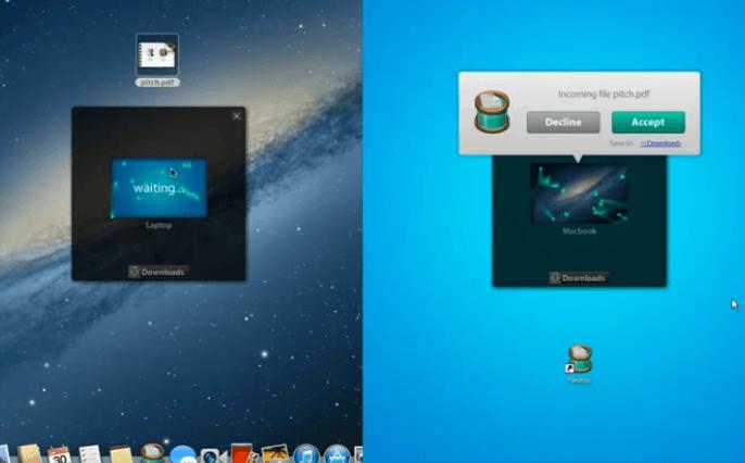 Filedrop Mac and Windows transfer