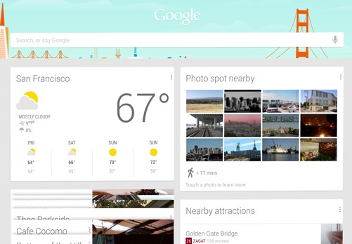Google Now for Tablets